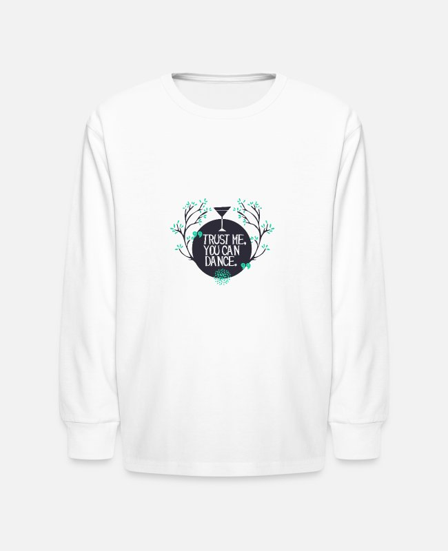 Alcohol Coctail Dance Long-Sleeved Shirts - trust me you can dance after one glas - Kids' Longsleeve Shirt white