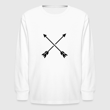 Hipster Arrows - Cross - Kids' Long Sleeve T-Shirt