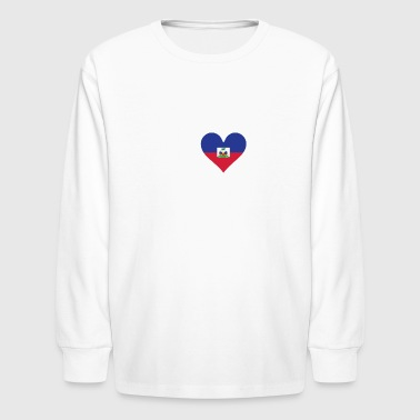 I Heart My Haitian Grandpa - Kids' Long Sleeve T-Shirt