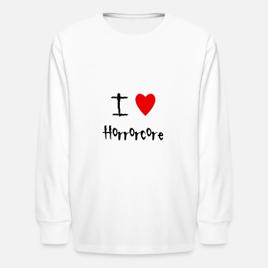 Horrorcore I love Horrorcore - Kids' Longsleeve Shirt
