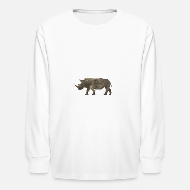 Jungle Sportswear Silhouette Jungle Series Rhino - Kids' Long Sleeve T-Shirt