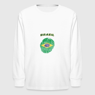 Brasil fingerprint - Kids' Long Sleeve T-Shirt
