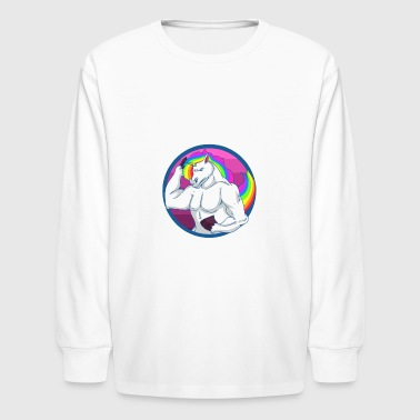 Unicorn Muscle - Kids' Long Sleeve T-Shirt