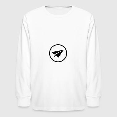 Paper Plane in black - Kids' Long Sleeve T-Shirt