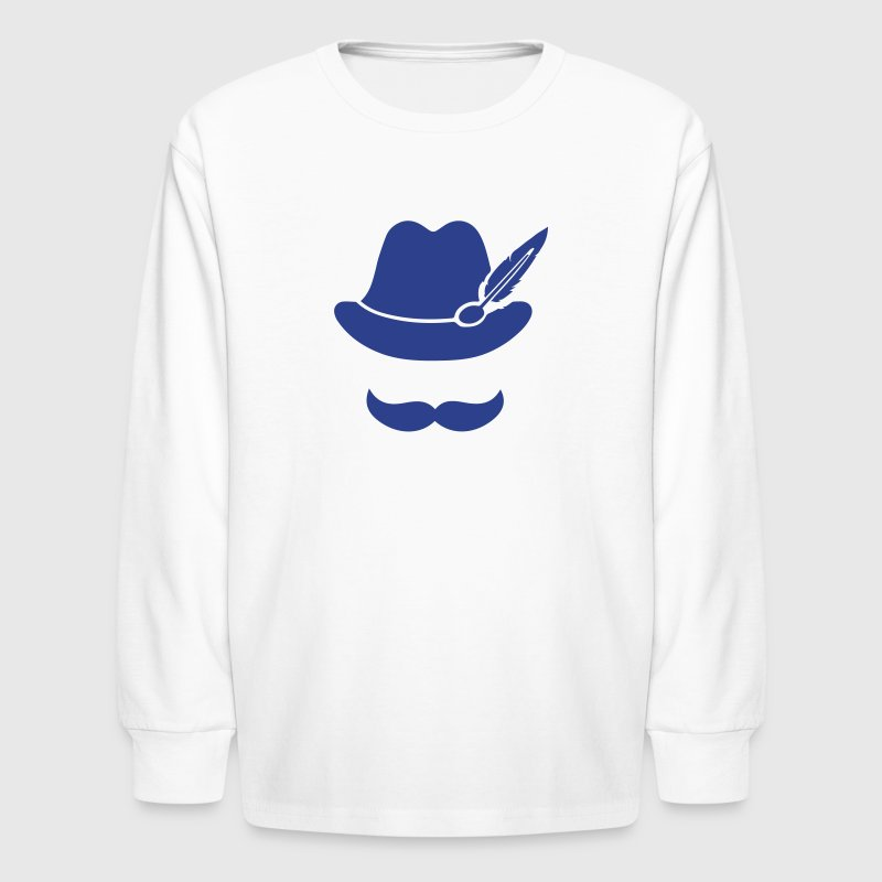 Cool Moustache (Hat) Oktoberfest Smiley - Outfit - Kids' Long Sleeve T-Shirt