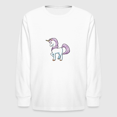 Sassy Unicorn - Kids' Long Sleeve T-Shirt