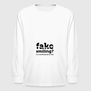 Synchronized Swimming Fake Smiling - Kids' Long Sleeve T-Shirt