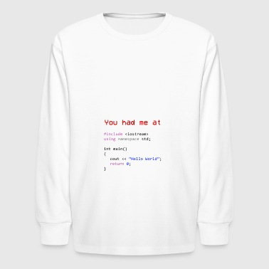 Hello world First program in Computer science - Kids' Long Sleeve T-Shirt