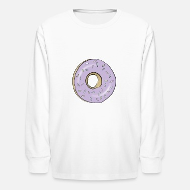 Purple Donut - Kids' Longsleeve Shirt