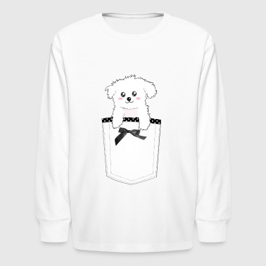 Maltese Cute Pocket Puppy Dog - Kids' Long Sleeve T-Shirt
