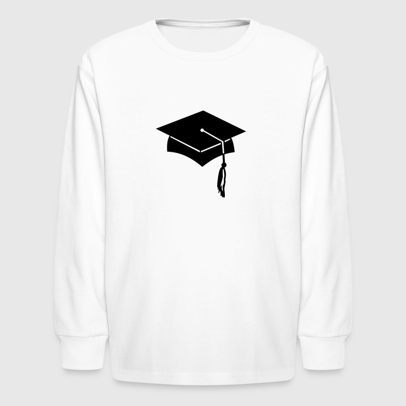 graduation college hat - Kids' Long Sleeve T-Shirt