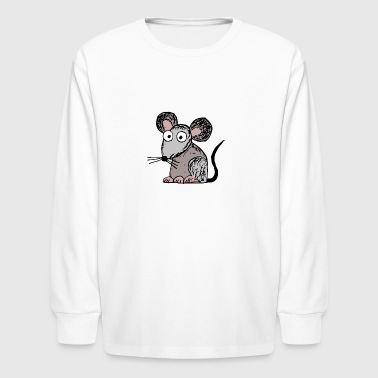 Little Mouse peggy the little grey mouse - Kids' Long Sleeve T-Shirt