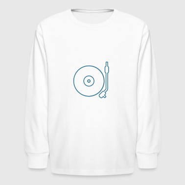 Turntable Icon - Kids' Long Sleeve T-Shirt