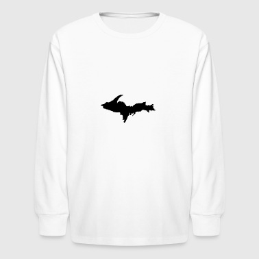 Upper Peninsula Black Insignia - Kids' Long Sleeve T-Shirt