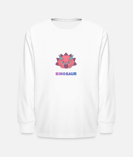 Bisexual Long-Sleeved Shirts - Biceratops - Kids' Longsleeve Shirt white