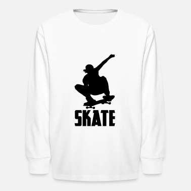 Skate Or Die Kids Long Sleeve T-shirt Skateboard Skater Kickflip Halfpipe Sk8 Clothes, Shoes & Accessories T-shirts & Tops
