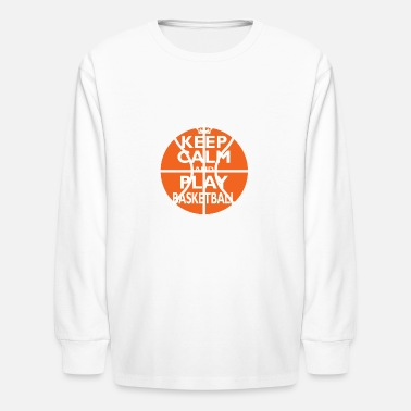 Sports Basketball Shirt/Hoodie-Play-Cool Birthday Gift - Kids' Long Sleeve T-Shirt