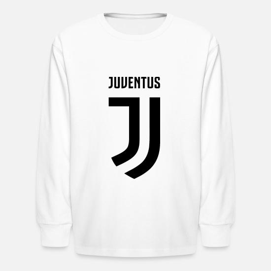 online store 7beaa 9f22f juve new logo Kids' Long Sleeve T-Shirt - white