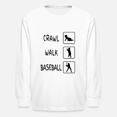Walking Baby Crawl Walk Baseball Gift Baby - Kids' Long Sleeve T-Shirt