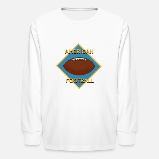 Quarterback T-Shirts - Football - Kids' Longsleeve Shirt white