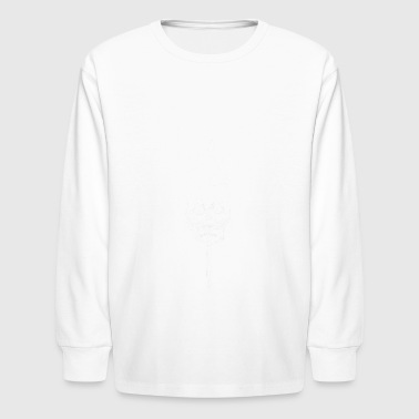 Match (white) - Kids' Long Sleeve T-Shirt