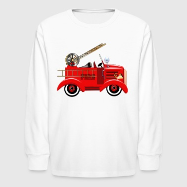 Fire Truck - Kids' Long Sleeve T-Shirt