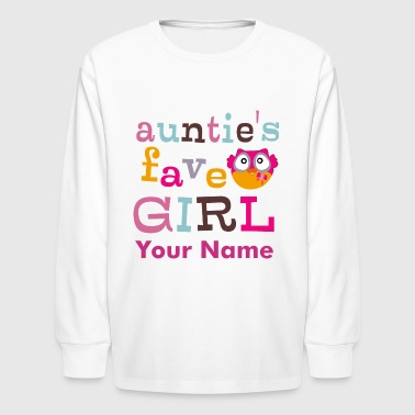Auntie's favorite girl - Kids' Long Sleeve T-Shirt
