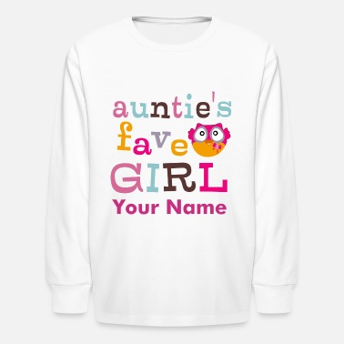 Favorite Girl Auntie's favorite girl - Kids' Long Sleeve T-Shirt