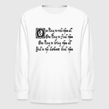 One ring to rule them all - Kids' Long Sleeve T-Shirt
