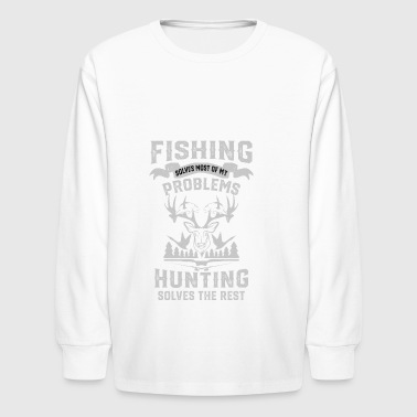 Funny Fishing and Hunting - Kids' Long Sleeve T-Shirt