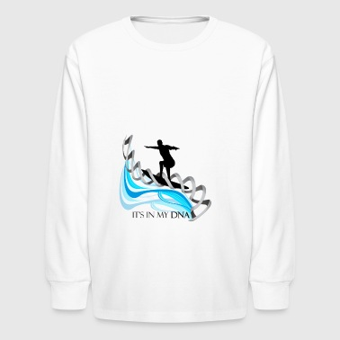 Surfing is in my DNA gift for surfers - Kids' Long Sleeve T-Shirt