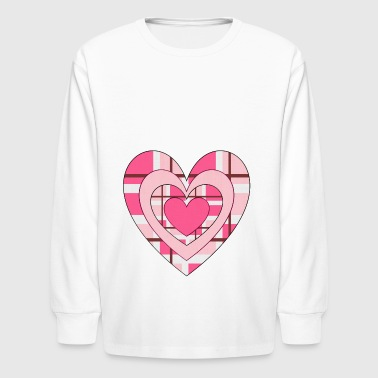 rotes herz red heart valentine valentinstag liebe1 - Kids' Long Sleeve T-Shirt