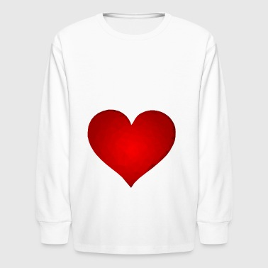rotes herz red heart valentine valentinstag liebe8 - Kids' Long Sleeve T-Shirt