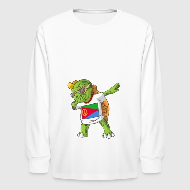 Eritrea Dabbing Turtle - Kids' Long Sleeve T-Shirt