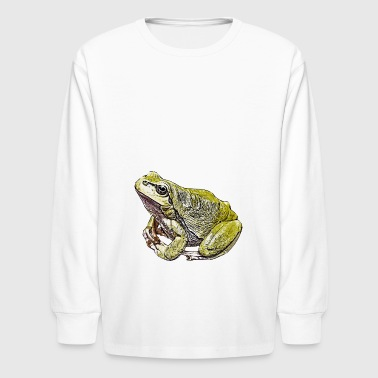 Comic Frog - Kids' Long Sleeve T-Shirt
