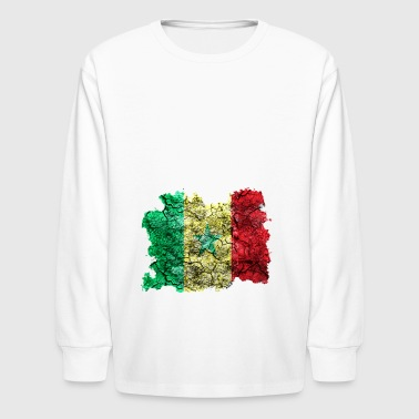 Senegal Vintage Flag - Kids' Long Sleeve T-Shirt