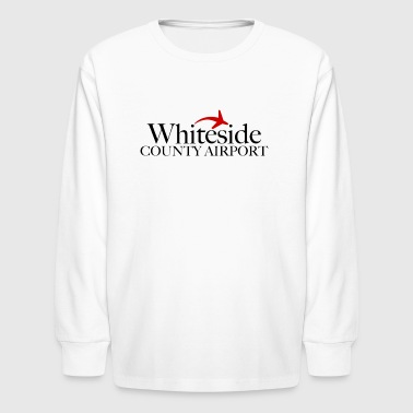Whiteside County Airport - Black Text - Kids' Long Sleeve T-Shirt