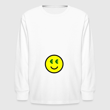 Smiley with Euro-Eyes Gift Idea - Kids' Long Sleeve T-Shirt