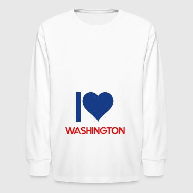 Washington - Kids' Long Sleeve T-Shirt