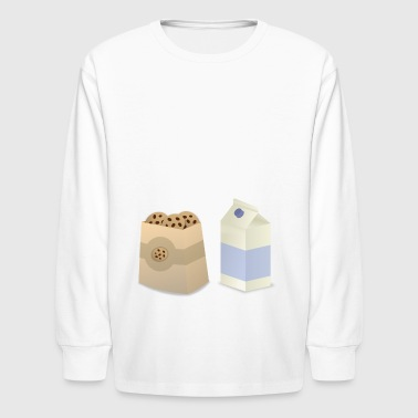 cookie and milk - Kids' Long Sleeve T-Shirt