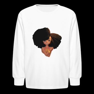 Afro Fabulous! - Kids' Long Sleeve T-Shirt