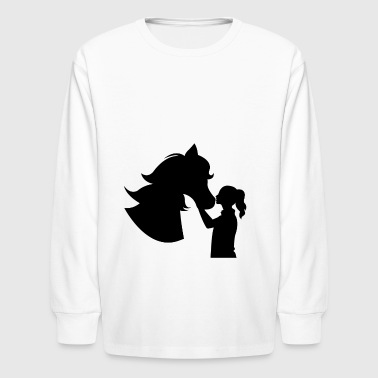 Horse Girl | Horse Back Riding Outdoor Sports - Kids' Long Sleeve T-Shirt