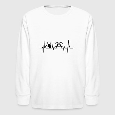 Sign Language Heart Shirt - Kids' Long Sleeve T-Shirt