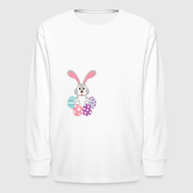 Egg Hunt Squad Shirt Easter Day - Kids' Long Sleeve T-Shirt