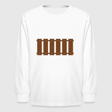 gartenzaun fences garden holt wooden - Kids' Long Sleeve T-Shirt