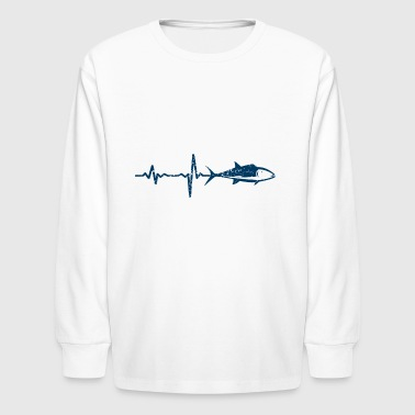 gift heartbeat fishing 04 - Kids' Long Sleeve T-Shirt