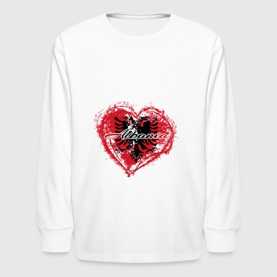 HOME ROOTS COUNTRY GIFT LOVE Albania - Kids' Long Sleeve T-Shirt