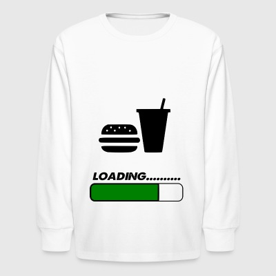 food loading - Kids' Long Sleeve T-Shirt