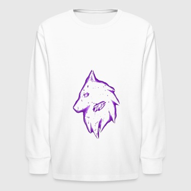 Dark Wolf Alex - Kids' Long Sleeve T-Shirt