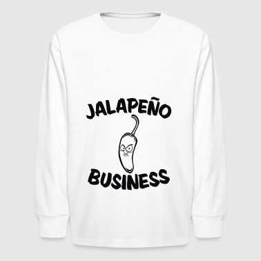 jalapeno business - Kids' Long Sleeve T-Shirt
